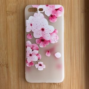 Accessories - NEW Iphone 7/8/7+/8+ Pink Flowers Case